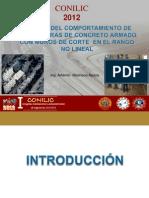 Estudio Del Comportamiento de Estructuras de Concreto Armado Con Muros de Corte en El Rango