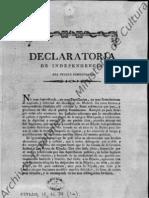 Declaratoria de Independencia Del Pueblo Dominicano