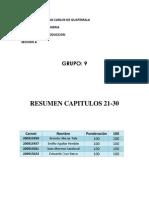 Resumen Cap21-30 Libro La Carrera