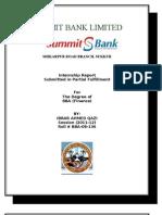 Final Internship Report on Summit Bank by Ibrar a. Qazi