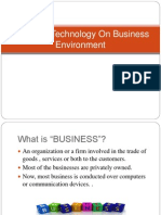 Impact of Technology on Business Environment