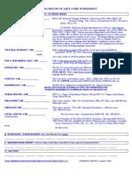 BA Core Worksheet