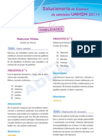 Solucionario Aduni - UNMSM 2011 I - Habilidades.desbloqueado