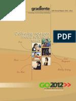 Gradiente Annual Report 2011-12