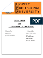 Employee Outsourcing ...... Term Paper