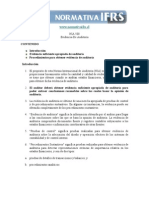 NIA 500 Evidencia de Auditoria