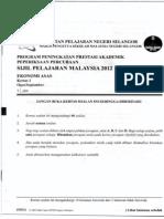 Trial Ekonomi Asas  Kertas 1 Spm Selangor 2012