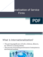 Internationalization of Service Firms