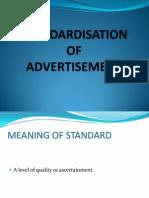 Standardization Af Advertisement