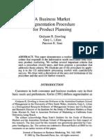 Market Segmentation Ppr