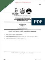 PMR Trial 2012 Math (Perak) Q&A