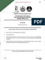 PMR Trial 2012 Sej (Perak) Q&A