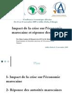 Impact de la crise sur l'économie marocaine et réponse des autorités