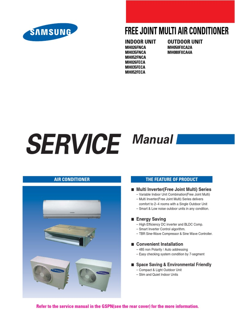 samsung mh080fxca4a service manual air conditioning power inverter rh scribd com
