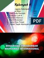 Kelompok 4 Mekanisme Persidangan Mahkamah Internasional