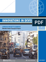 Innovations in Urban Resettlement- Mumbai Urban Transport Project