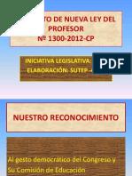 Presentacion del Proyecto de la Nueva Ley del Profesorado.