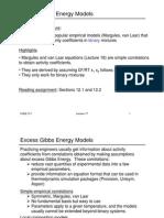 Excess Gibbs Energy Model