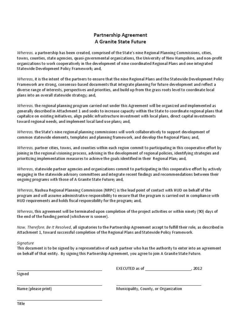 Granite State Futures Agreement Committee Community