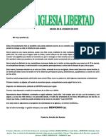 Carta de Bienvenida Ala Iglesia Libertad