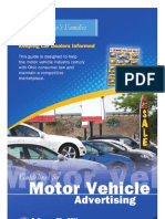 Guidelines for Motor Vehicle Advertising