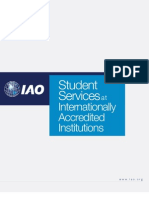 IAO emphasizes the need of student services in educational institutions
