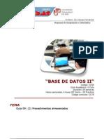 Guia 09 Base Datos II - Procedimientos Almacenados