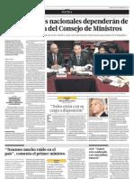 Gobernadores nacionales dependerán de la Presidencia del Consejo de Ministros