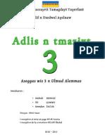 Tamazight - manuel scolaire Algérie - 3 Année Moyenne