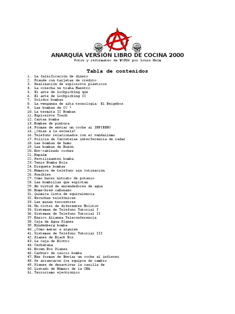 The Anarchy Cookbook(2000)Es