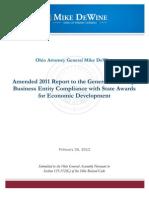 Amended 2011 Economic Development Accountablity Report