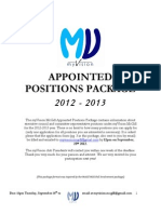 MVM 2012 Appointed Positions Package