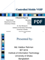 Government Controlled Mobile VoIP