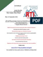 Postcard From Poprad 21 Septembear 2012