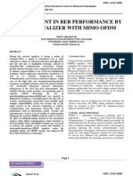 IMPROVEMENT IN BER PERFORMANCE BY MMSE EQUALIZER WITH MIMO OFDM