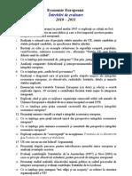 Intrebari de Evaluare Examen Final Economie Europeana 2010-2011