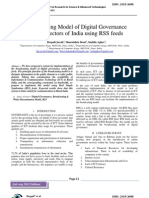 Broadcasting Model of Digital Governance in Rural Sectors of India using RSS feeds