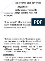 Modifiers (Adjectives and Adverbs)