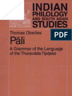 Pali. a Grammar of the Language of the Theravada Tipitaka.(Th.oberlies)(Berlin,2001)(600dpi,Lossy)