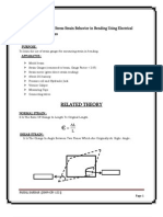 To Study the Elastic Stress Strain Behavior in Bending Using Electrical Resistance Strain Gauges