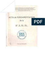 Acta de Fundamentación de la FISS. David Ferriz Olivares. 1988. Caracas