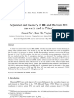 Separation and Recovery of RE and Mn From MN Rare Earth Mud in China