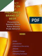 consumer behaviour presentation on preferred brand of beer