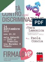 Paola Concia per Firmalove presso CGIL Trento
