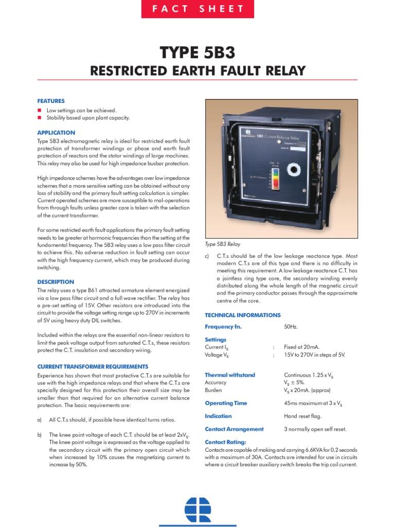5b3 Relay Transformer Switch Earth