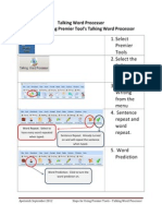 Steps for Using Premier Tool's Talking Word Processor