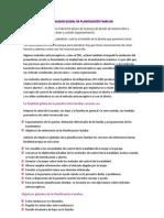 FINALIDAD GLOBAL DE PLANIFICACIÓN FAMILIAR