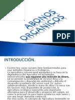 ABONOS ORGANICOS presentacion