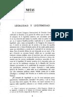 Legalidad y Legitimidad (No Schmitt)