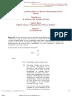 Reglamento de la Ley de Obras Públicas y Servicios ..